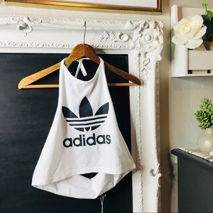 Adidas women's crop top Sz large NWT